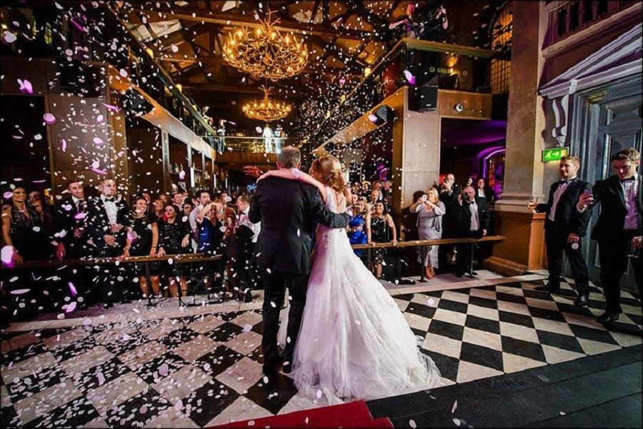 Alma de Cuba wedding petal shower