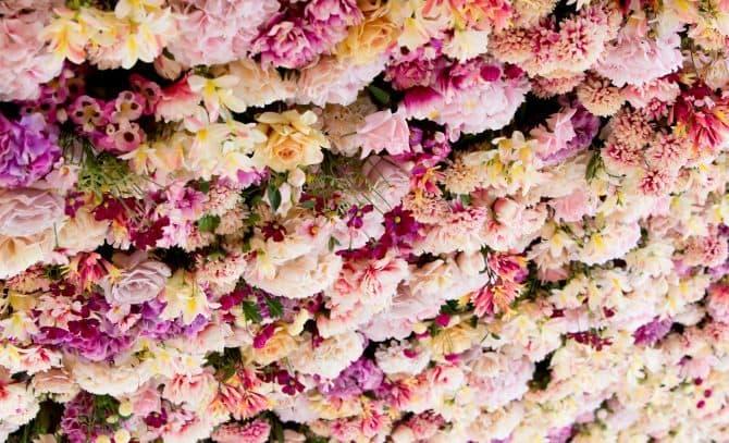 Joseph Massie flower ceiling at Signature Living