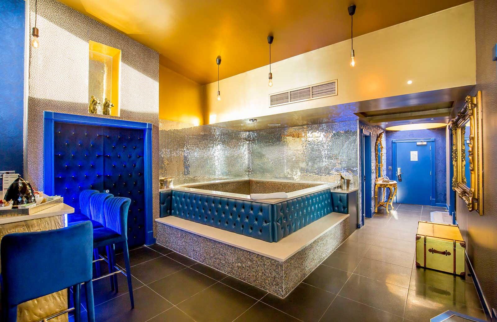 Skyline Liverpool pool party hotel room