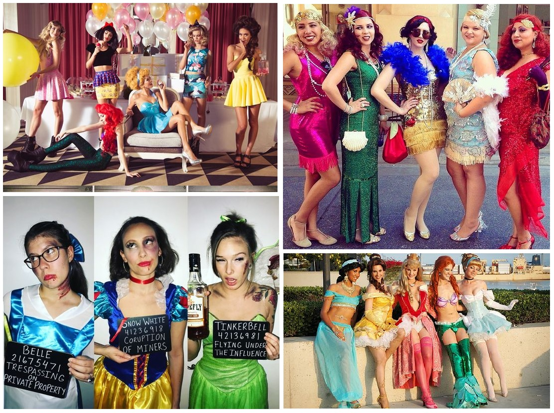 Disney Princess gone bad - hen party fancy dress theme