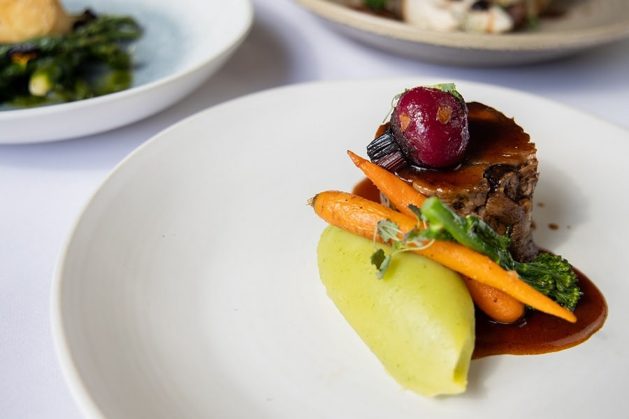 Braised Ox Cheek and Buttered Carrots at Carpathia - Autumn city breaks